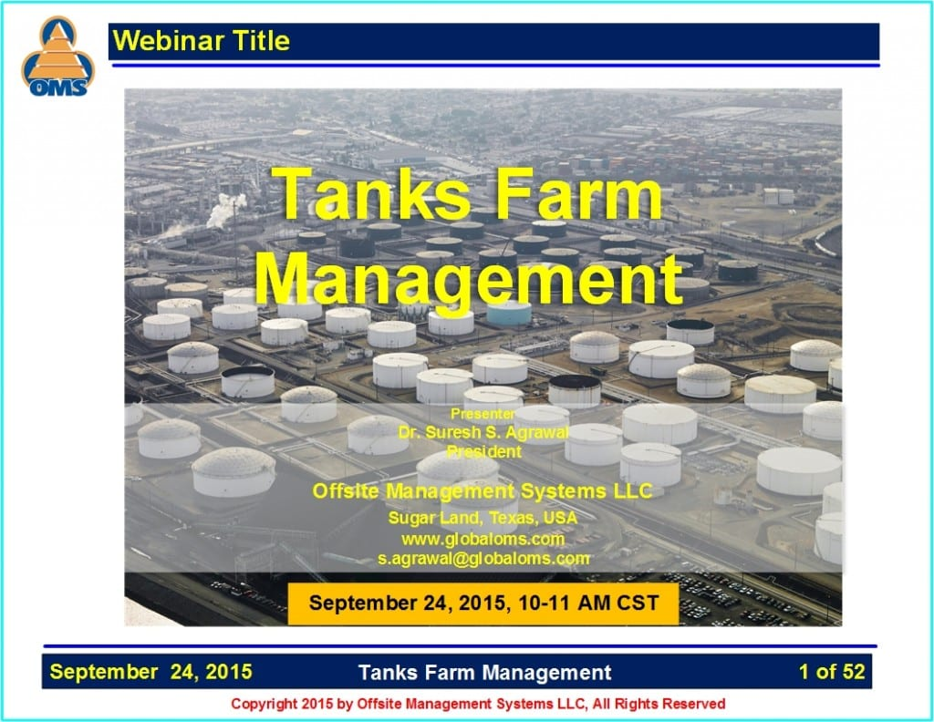 OMS-W09 Tanks Farm Management