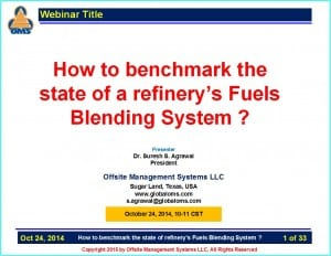 How To benchmark the state of refinery Fuels Blending System