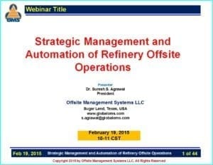 Strategic Management & Automation of Refinery Offsite