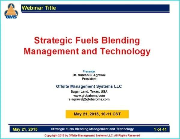 OMS W05 Strategic Fuels Blending Management & Technology