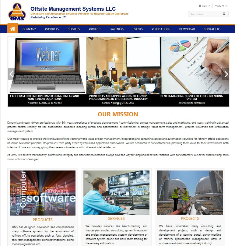 Global oms Oil and gas consulting service provider