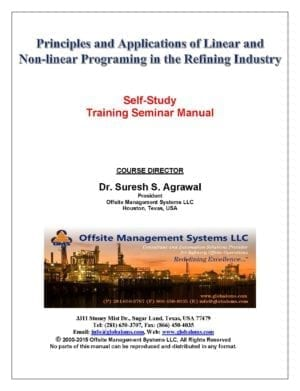 OMS-M03 Training Seminar Manual for Principles and Applications of linear/Non-linear Programming in the Refining Industry