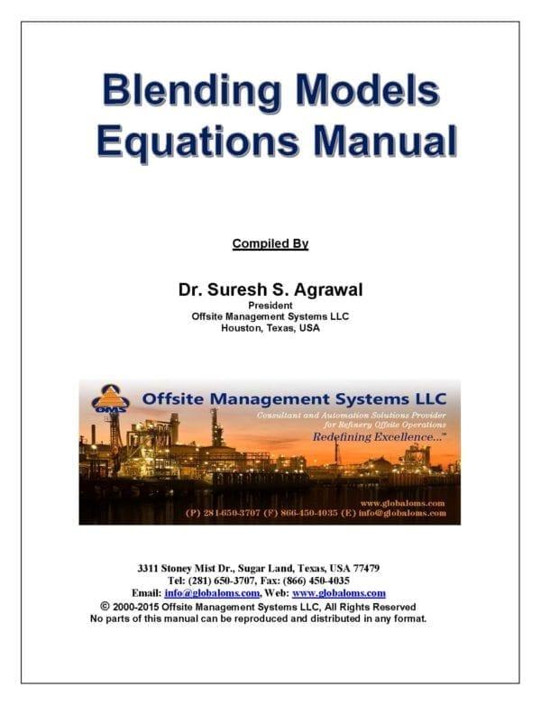 Fuels Blending Qualities Models Equations Manual