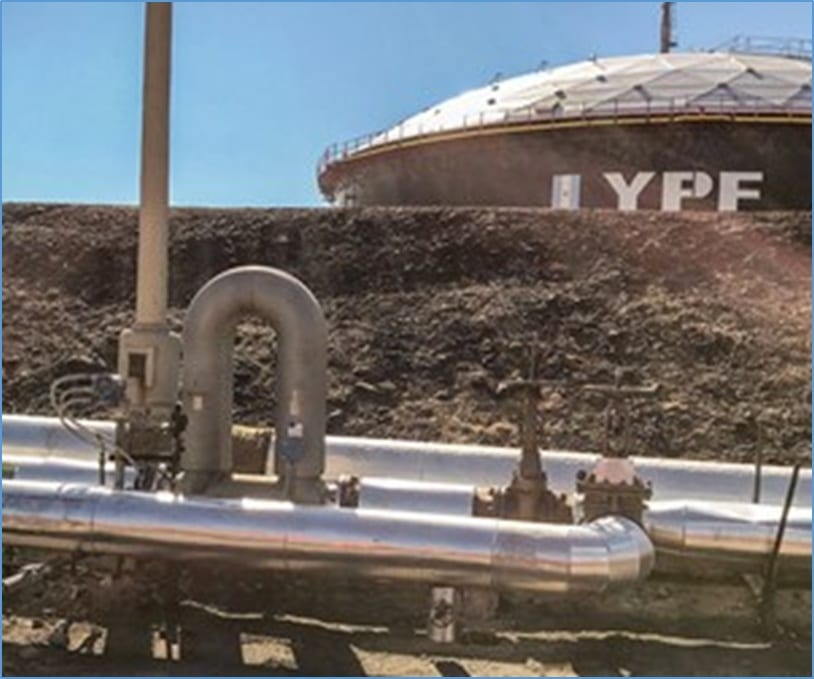 Coriolis meters located at the inlet to a crude tank